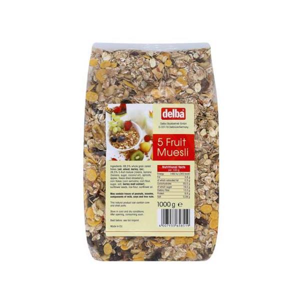 新商品 デルバ ファイブフルーツミューズリー 1kg 輸入食品