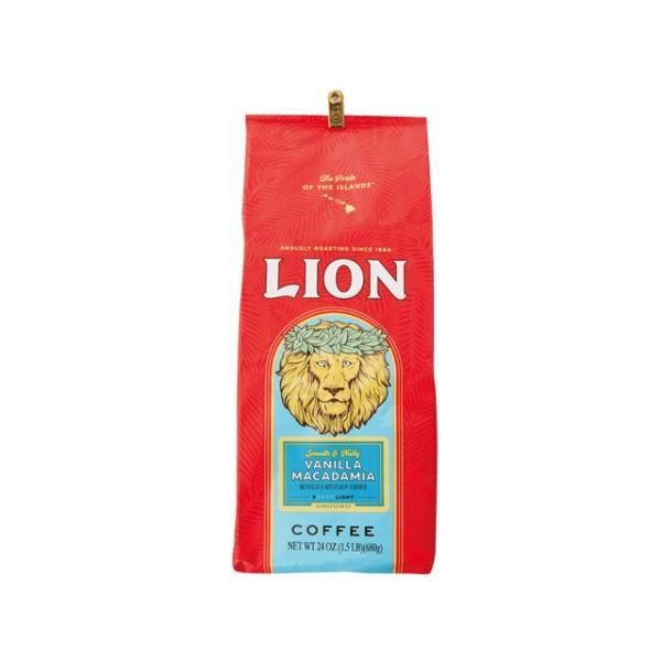 正規輸入品 ライオンコーヒー バニラマカダミア 24oz(680g) 輸入食品