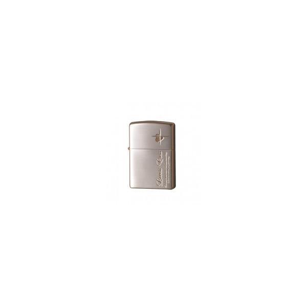 ZIPPO(ジッポー) ライター ラバーズ・クロス メッセージSIDE 銀サテーナ&ピンクゴールド 63050298 おしゃれ タバコ 火