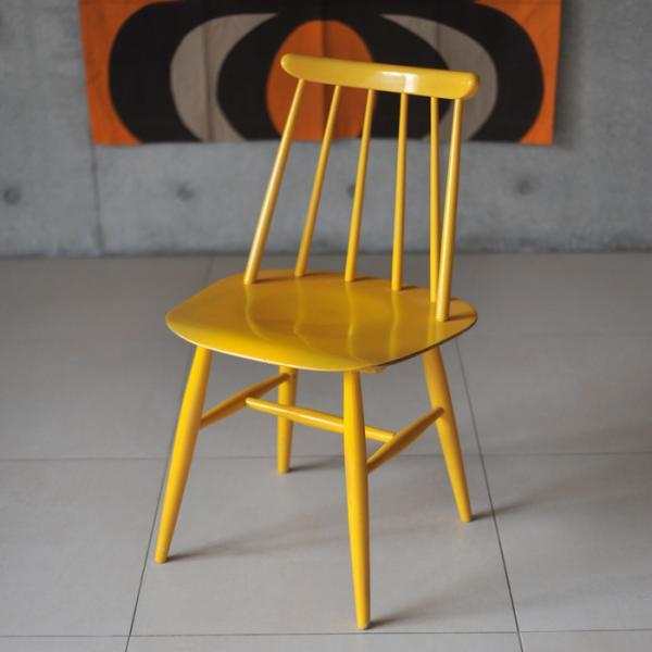 【 アンティーク 】 イルマリ・タピオヴァーラ Ilmari Tapiovaara ファネット チェア Fanett Chair ( イエロー )《 ビンテージ vintage ヴィンテージ 》