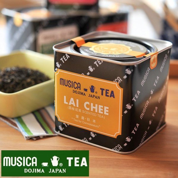 ムジカティー ライチ  【MUSICA ムジカ 紅茶 / 堂島 / LAI CHEE】<226g缶>