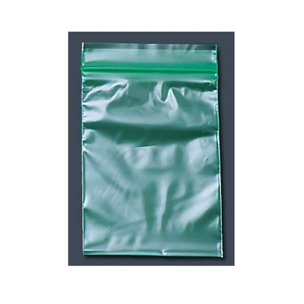 ユニパック カラー半透明(チャック付ポリ袋) F-4(100枚入) 120×170mm <緑>