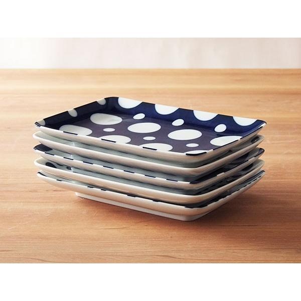 コバルト 長角皿 21cm 焼き物皿 藍染 藍色 食器 おしゃれ 美濃焼 角皿 北欧|kitchengoods-bell|05