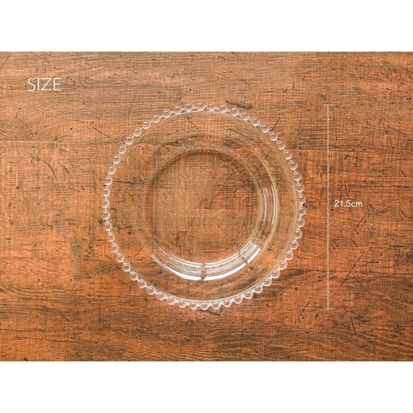 デリエ DELIE 21.5cm しずく ポイント ガラスプレート パスタ皿 デザート皿 洋食器 おしゃれ カフェ食器|kitchengoods-bell|03