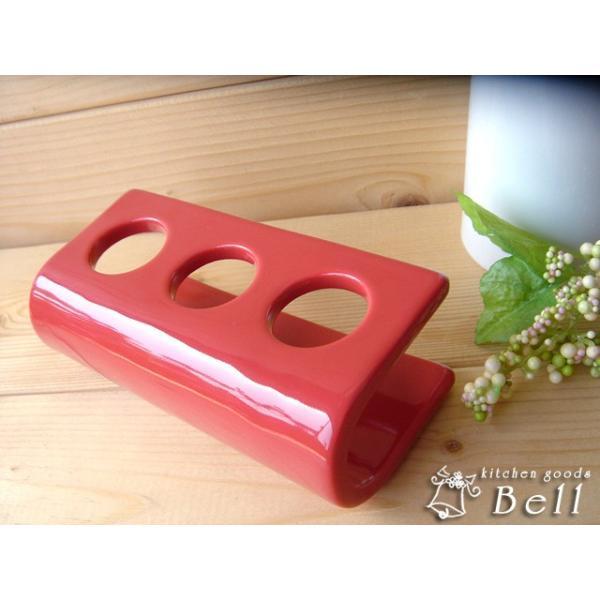 チューブ立て レッド 陶器 便利グッズ 業務用食器|kitchengoods-bell|02