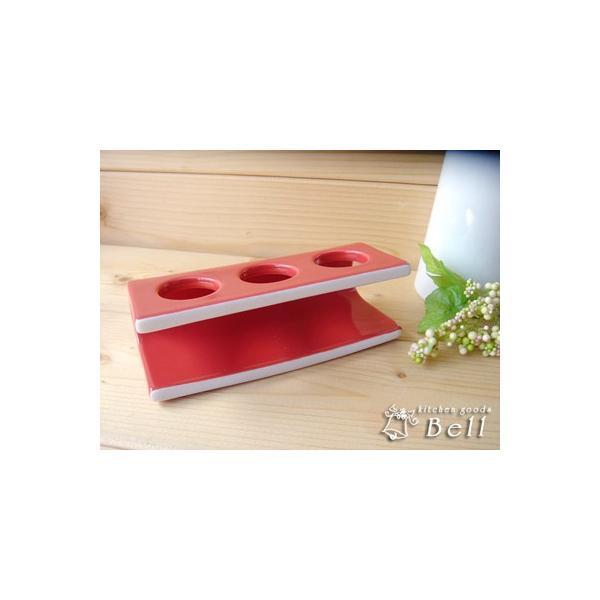 チューブ立て レッド 陶器 便利グッズ 業務用食器|kitchengoods-bell|03