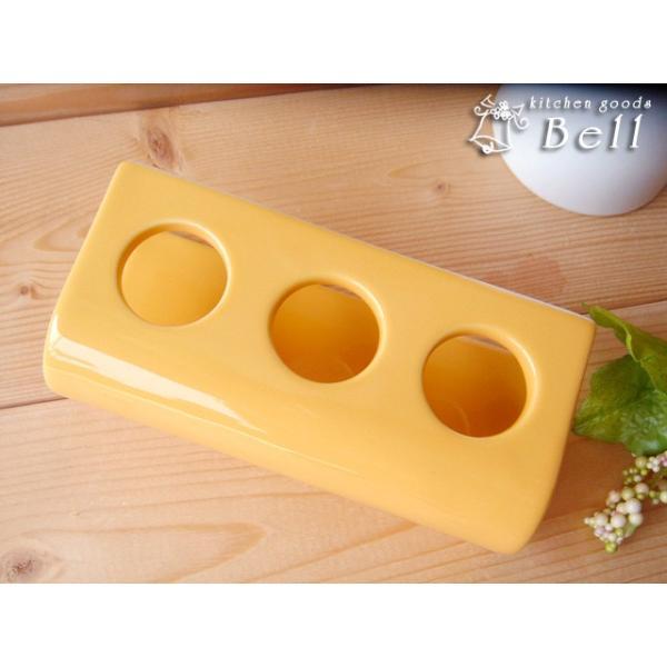 チューブ立て イエロー 陶器 便利グッズ 業務用食器|kitchengoods-bell|02