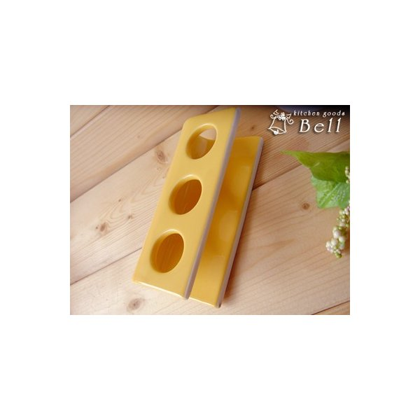 チューブ立て イエロー 陶器 便利グッズ 業務用食器|kitchengoods-bell|03
