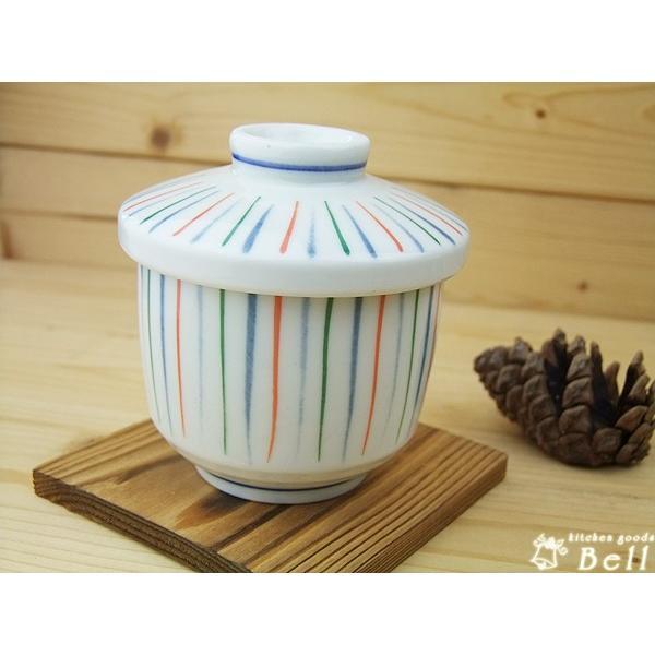 茶碗蒸し 器 おしゃれ 三色細十草 蒸し碗 美濃焼 焼杉台付 業務用食器