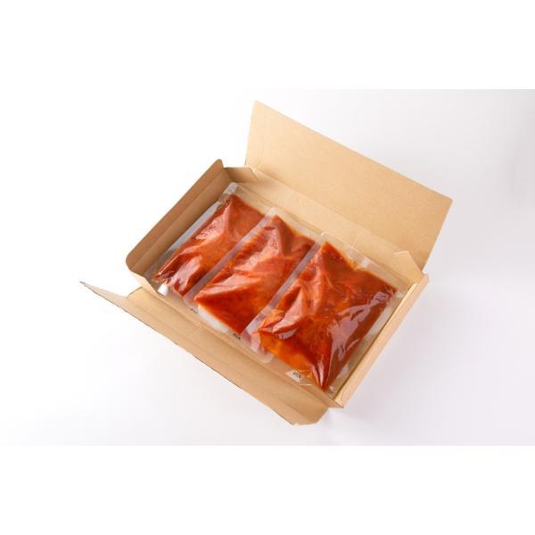 ハンバーグ レトルト ポイント消化 セット お取り寄せ 煮込みハンバーグ デミグラスソース 常温保存 非常食 セール 約200g×3袋 〔メール便出荷〕|kiwami-honpo|05