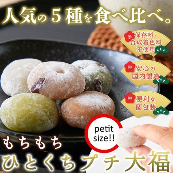 プチ大福 一口 個包装 もちもち 日持ち 和菓子 お茶請け 茶菓子 アソート5種1kg(250g×4袋)|kiwami-honpo|02