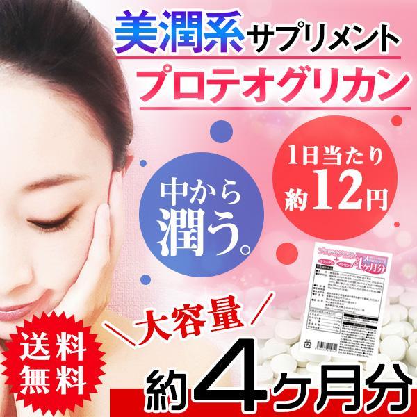 プロテオグリカン サプリメント サプリ 美容 コラーゲンとプラセンタ配合 送料無料   約4ヵ月分 〔120日分×1袋〕〔発送まで1~2週間〕 kiwami-honpo