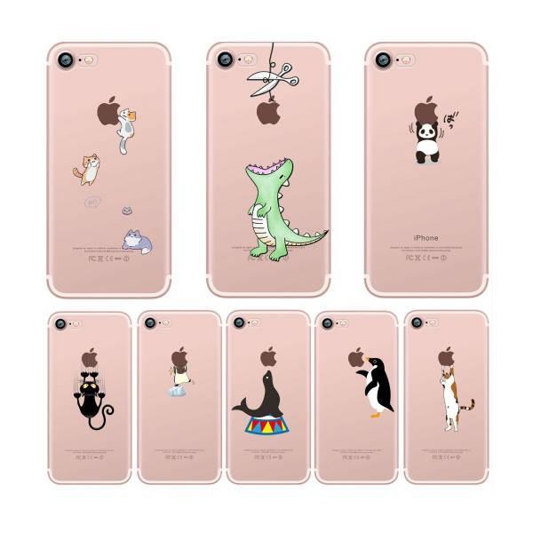Iphone 8 7 ソフト ケース 動物 イラスト カバー 人気 かわいい 安い