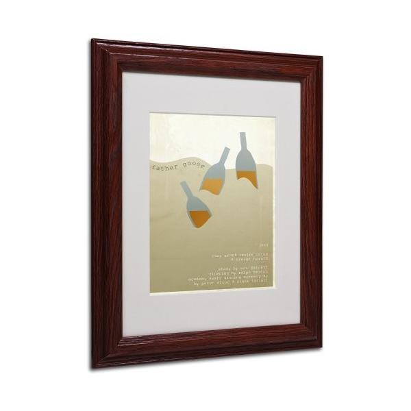 Megan Romo トレードマーク ファインアート 父のグース キャンバス ウォールアートワーク 木製フレーム 11 by 14-Inch MR00|kizo-air