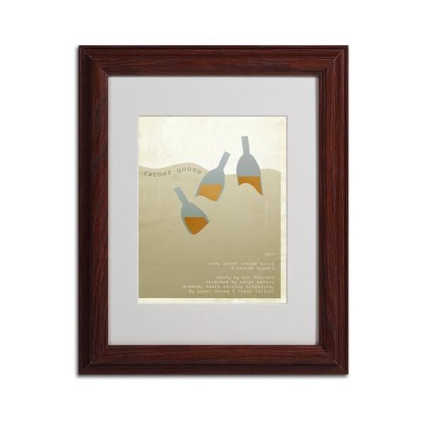 Megan Romo トレードマーク ファインアート 父のグース キャンバス ウォールアートワーク 木製フレーム 11 by 14-Inch MR00|kizo-air|02