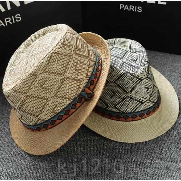 帽子メンズハット中折れ帽メンズ帽子中折れ帽子中折れハットカジュアル帽子おしゃれ通気良い紳士柄付き4色