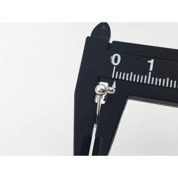 ピアス パーツ シルバー 40個 3mm 丸玉 カン 付き  ポストピアス アクセサリー ハンドメイド 金具 (AP0639)|kkfn|06