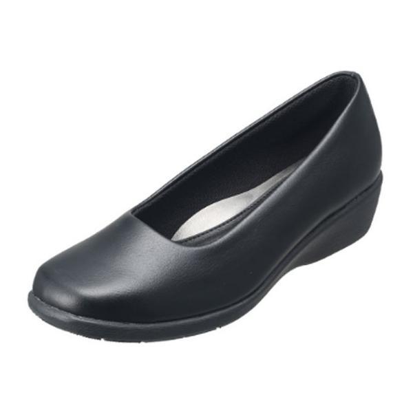 パンジーPansy4072オフィスシューズウエッジシューズパンプスレディース婦人3E日本製ブラック靴