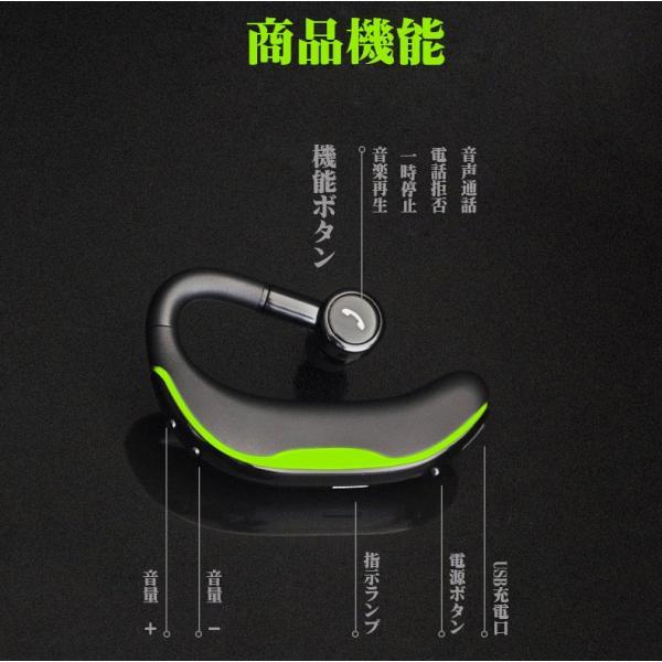 ブルートゥースイヤホン Bluetooth 4.1 ワイヤレスイヤホン 耳掛け型 ヘッドセット 片耳 最高音質 マイク内蔵 ハンズフリー 180°回転 超長待機時間 左右耳兼用|klmale|12