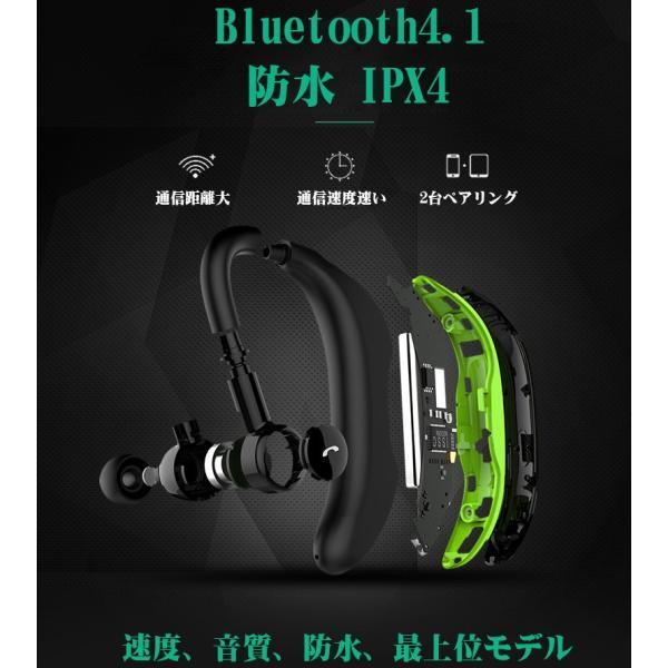 ブルートゥースイヤホン Bluetooth 4.1 ワイヤレスイヤホン 耳掛け型 ヘッドセット 片耳 最高音質 マイク内蔵 ハンズフリー 180°回転 超長待機時間 左右耳兼用|klmale|09