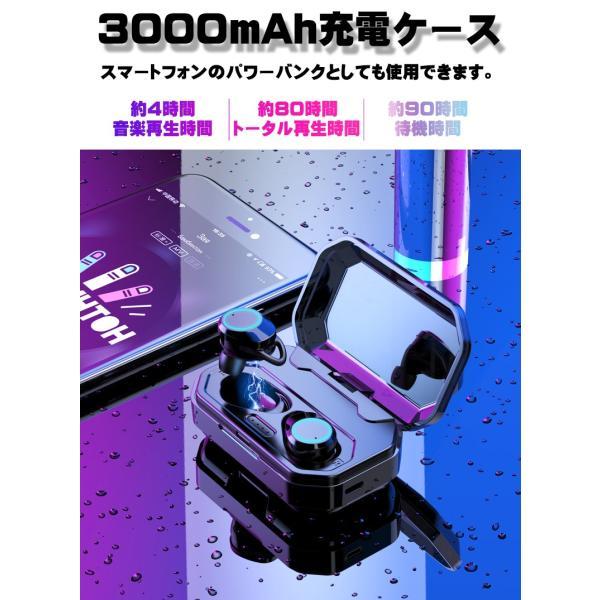 3000mA大容量 ワイヤレス イヤホン Bluetooth 5.0 両耳 片耳 コードレスイヤホン 高音質 ワイヤレスイヤホン スポーツ モバイルバッテリー 音量調整 防水 klmale 09