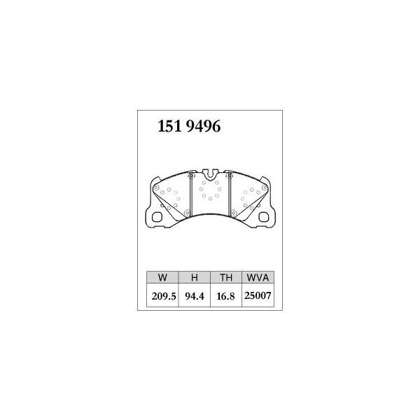 ブレーキパッド 低ダスト PORSCHE ポルシェ (970) パナメーラ Turbo 4.8 970CWBA DIXCEL M Type 1519496 フロント|kn-carlife|04