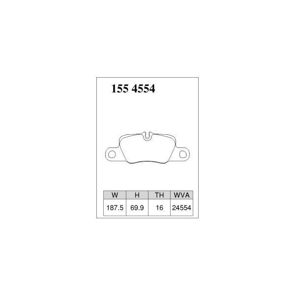 ブレーキパッド 低ダスト PORSCHE ポルシェ (970) パナメーラ S / 4S 970CWDA DIXCEL M Type 1554554 リア|kn-carlife|05