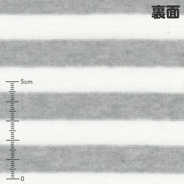 防蚊モステクト・クールモーション 40先染めリバー天竺ボーダー グレーモク ひんやり接触冷感 ニット生地 knit-yamanokko 02