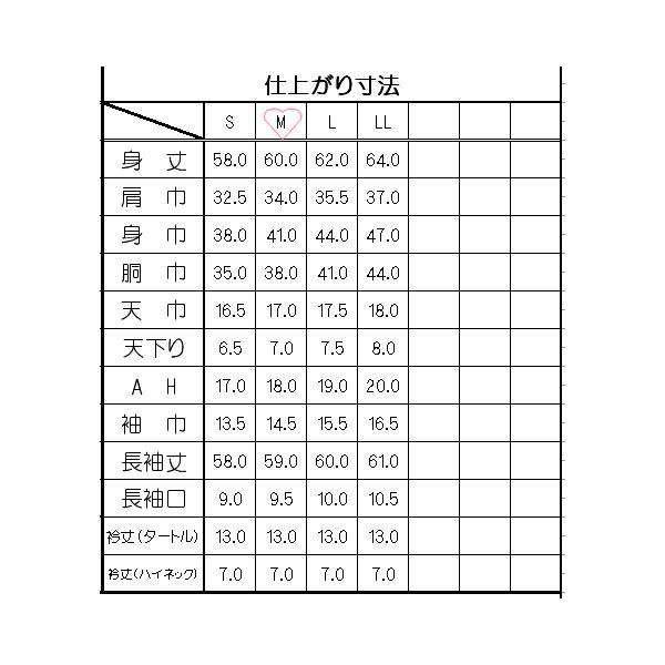 型紙  レディース インナータートル&ハイネック ニット生地向けカット済みパターン|knit-yamanokko|02