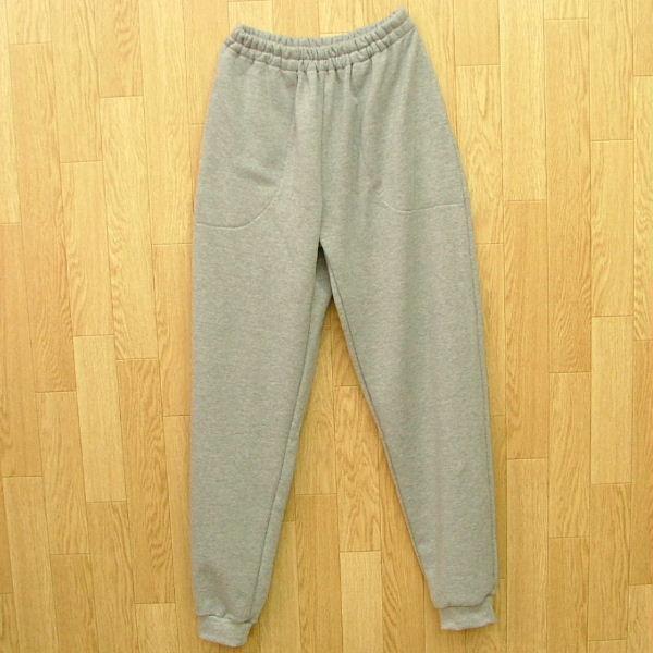 型紙  メンズ・男女兼用 スウェットパンツ ニット生地向けカット済みパターン|knit-yamanokko