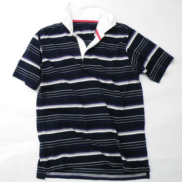 型紙  メンズ ラガーシャツ半袖&長袖 ニット生地向けカット済みパターン|knit-yamanokko|02