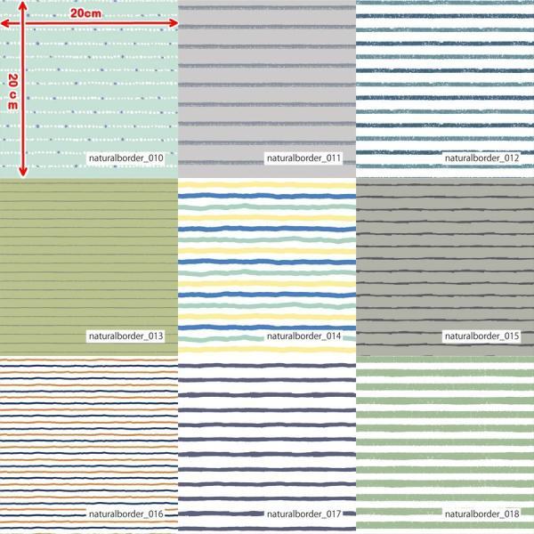 「ナチュラルボーダー100種」接触冷感シャインクールリバーシブルメッシュ(1mカット全面プリント) ニット生地 UVカット 消臭 クール生地|knit-yamanokko|03