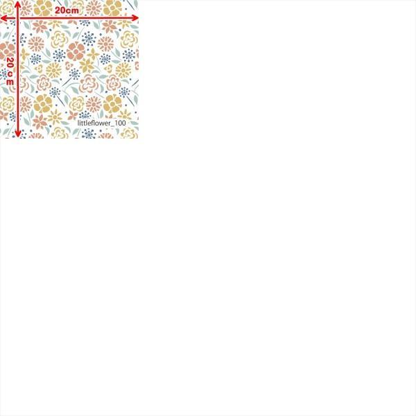 「フラワー100種」接触冷感シャインクールリバーシブルメッシュ(1mカット全面プリント) ニット生地 UVカット 消臭 クール生地|knit-yamanokko|13