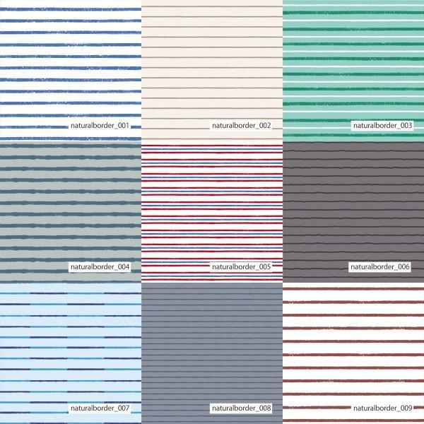 「ナチュラルボーダー100種」吸汗速乾コンフォートセンサー ブライトキング (1mカット全面プリント)ニット生地 ジャージ生地|knit-yamanokko