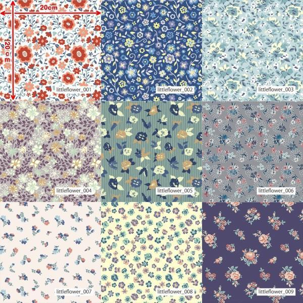 「フラワー100種」3段スムース (フリーカット プリント有効125cm巾) ニット生地|knit-yamanokko|02