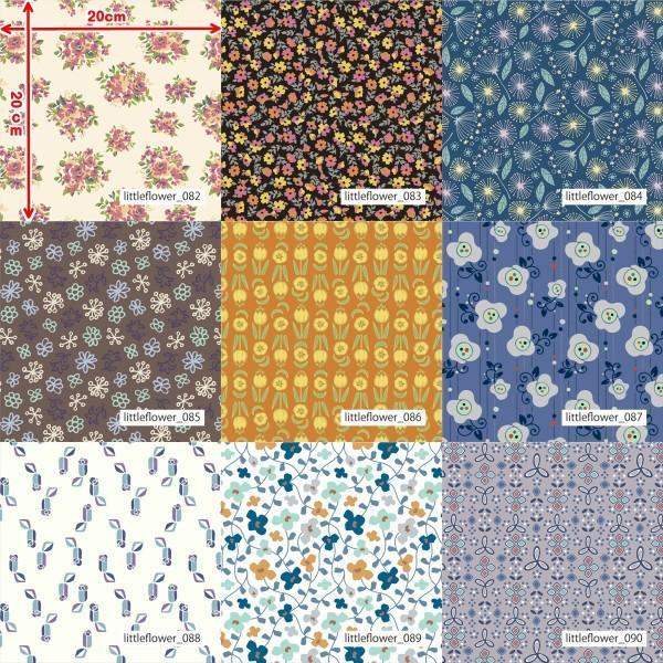 「フラワー100種」3段スムース (フリーカット プリント有効125cm巾) ニット生地|knit-yamanokko|11