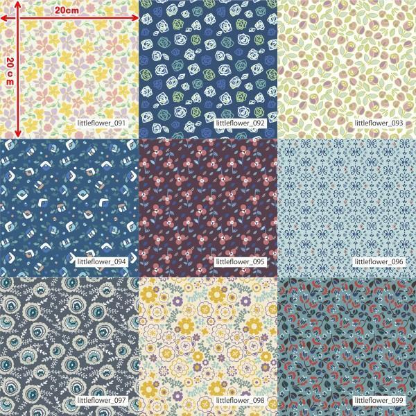 「フラワー100種」3段スムース (フリーカット プリント有効125cm巾) ニット生地|knit-yamanokko|12