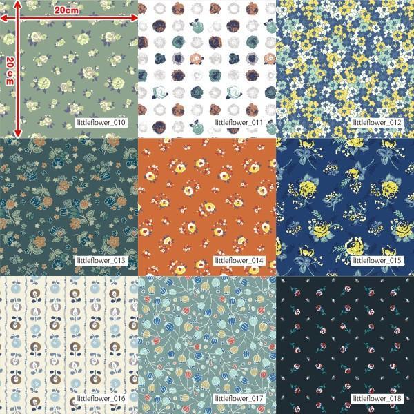 「フラワー100種」3段スムース (フリーカット プリント有効125cm巾) ニット生地|knit-yamanokko|03
