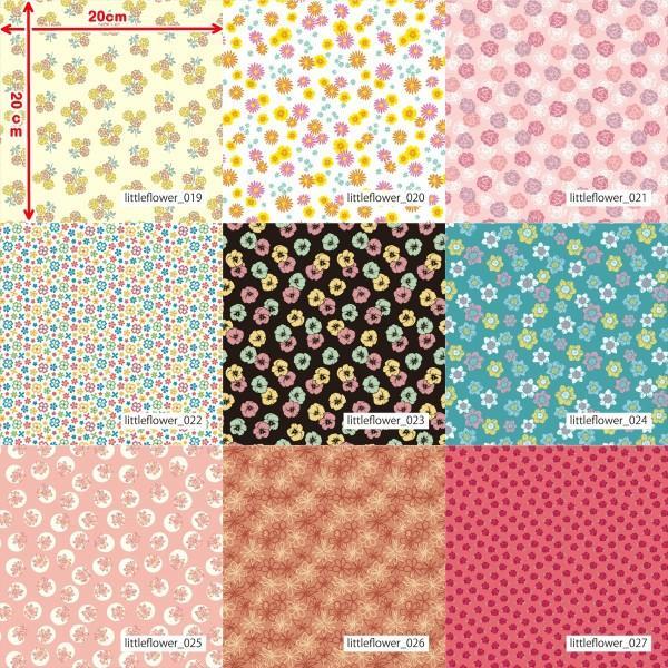 「フラワー100種」3段スムース (フリーカット プリント有効125cm巾) ニット生地|knit-yamanokko|04
