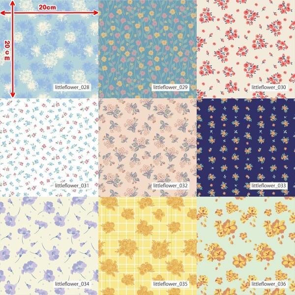 「フラワー100種」3段スムース (フリーカット プリント有効125cm巾) ニット生地|knit-yamanokko|05