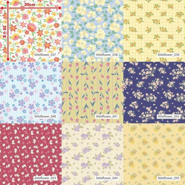 「フラワー100種」3段スムース (フリーカット プリント有効125cm巾) ニット生地|knit-yamanokko|06
