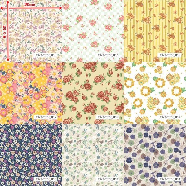 「フラワー100種」3段スムース (フリーカット プリント有効125cm巾) ニット生地|knit-yamanokko|07