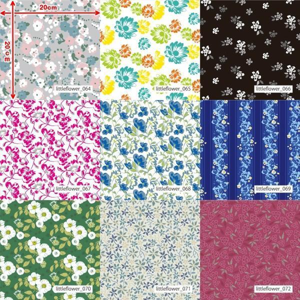 「フラワー100種」3段スムース (フリーカット プリント有効125cm巾) ニット生地|knit-yamanokko|09