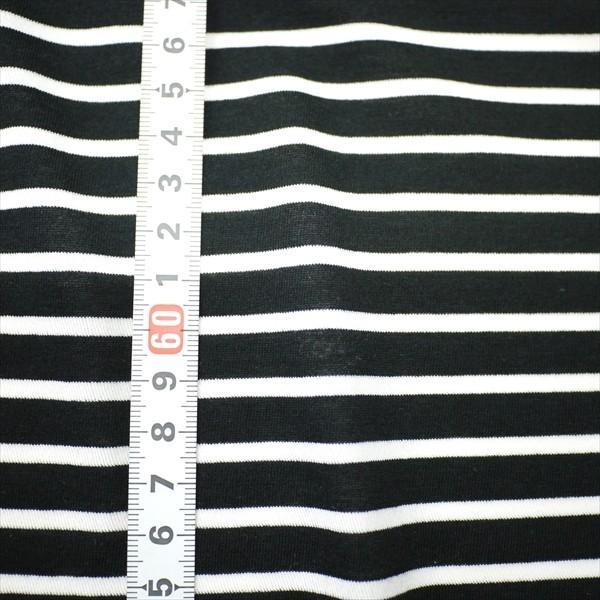 ニット生地 冷感 消臭 ミラキュラス・クール40天竺ボーダー ブラック×ホワイト 「犬服、クールインナー向け」|knit-yamanokko|02