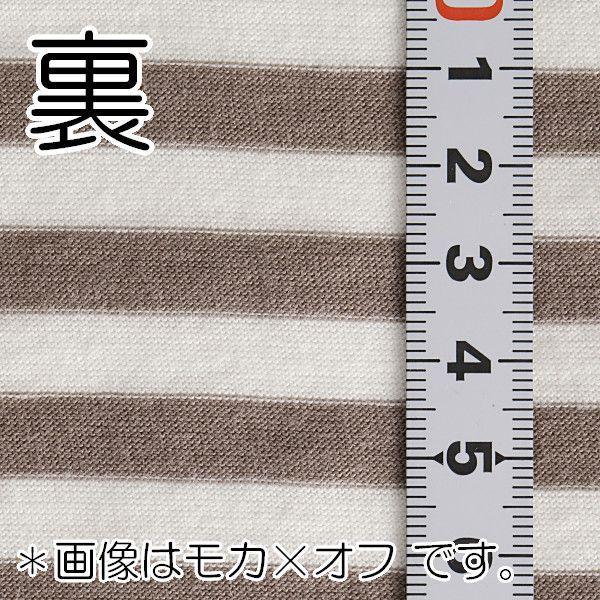 ニット生地 UV加工 綿モダール30天竺ボーダー ネイビー×オフ「UVケア、トップス、インナー向け」 knit-yamanokko 04