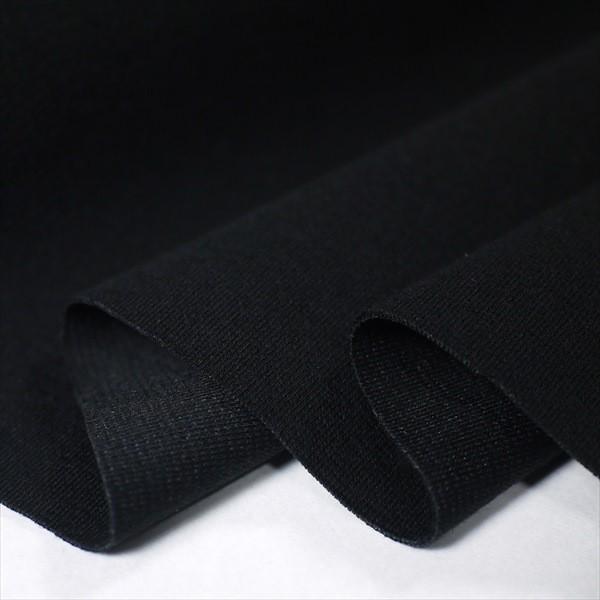 撥水・撥油 ナノJ 50/-ストレッチポンチ ブラック(汚れ付着防止)|knit-yamanokko