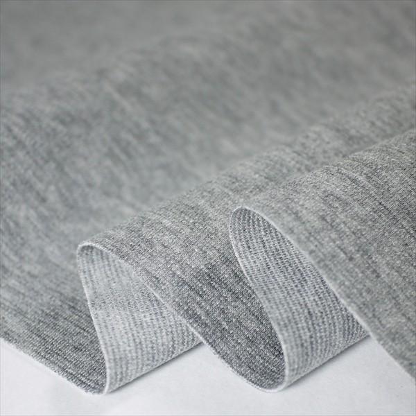 撥水・撥油 ナノJ 50/-ストレッチポンチ グレー杢 (汚れ付着防止)|knit-yamanokko
