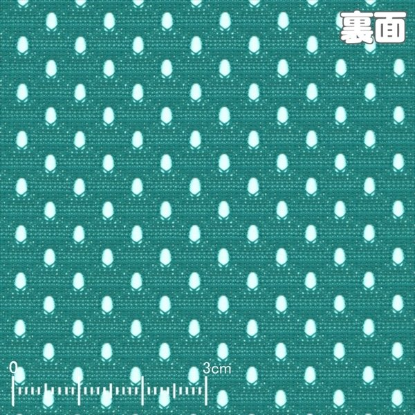 ニット生地 吸汗速乾メッシュスポーツ ターコイズグリーン「犬服、スポーツ向け」|knit-yamanokko|02
