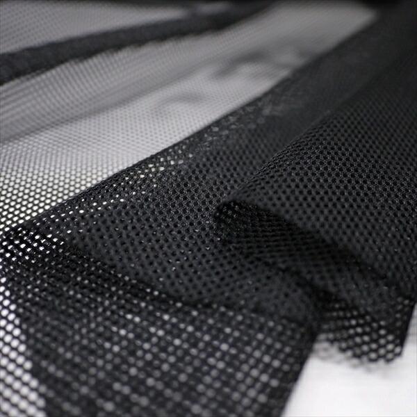 ニット生地 帯電防止・吸汗速乾 ダブルメリットメッシュ ブラック「裏地向け、グッズ向け」 knit-yamanokko 03