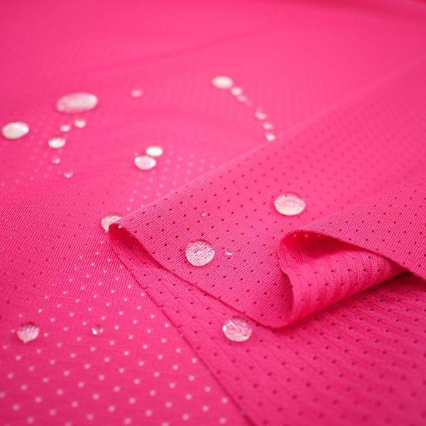 ニット生地 撥水スプラッシュメッシュ ローズピンク 「雨上がり用犬服、グッズ類向け」 knit-yamanokko 02
